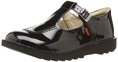 Kickers Mädchen Kick T Mary Jane Halbschuhe, Schwarz (Black), 36 EU Youth Black Patent Schuhe
