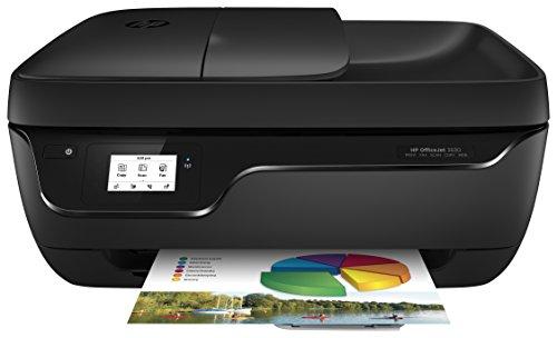 HP Officejet 3830 All-in-One Tintenstrahl Multifunktionsdrucker (A4, Drucker, Kopierer, Scanner, Fax, WLAN, USB, 4800x1200) schwarz