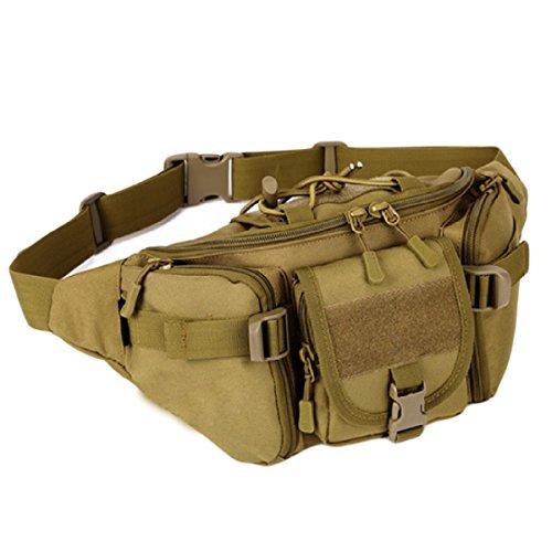 Außenreittaschen Reisetaschen Berglaufgeldbeutel Freizeitbeutel Brusttasche Mann Tasche,Orange WolfBrown