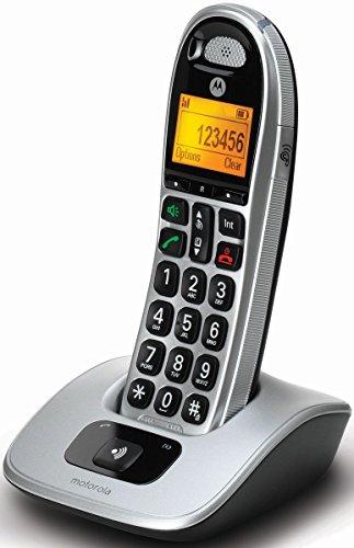 Motorola CD301 Schnurlostelefon schwarz/silber