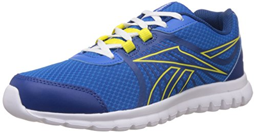 Reebok Boy's Reebok Sublite Speed Blue,Yellow And White Sneakers – 2.5C UK 41tp9wTPaPL