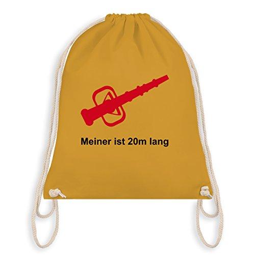 Feuerwehr - Meiner ist 20cm lang - Unisize - Senfgelb - WM110 - Turnbeutel & Gym Bag