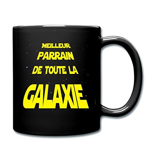 Spreadshirt Meilleur Parrain De Toute La Galaxie Mug uni, noir