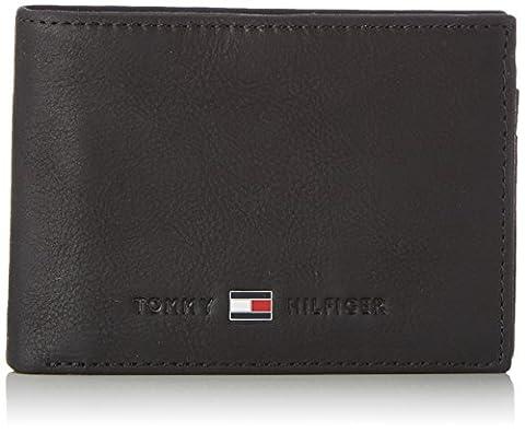 Tommy Hilfiger JOHNSON MINI CC FLAP AND COIN POCKET AM0AM00662 Herren Geldbörsen 11x8x2 cm (B x H x T), Schwarz (BLACK 002)