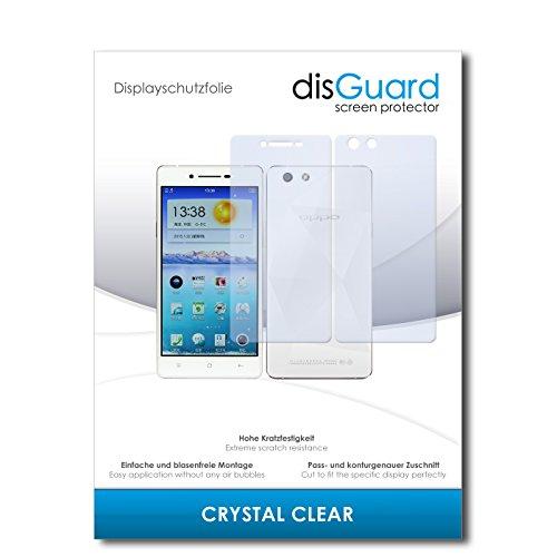 disGuard® Bildschirmschutzfolie [Crystal Clear] kompatibel mit Oppo R1x [4 Stück] Kristallklar, Transparent, Unsichtbar, Extrem Kratzfest, Anti-Fingerabdruck - Panzerglas Folie, Schutzfolie