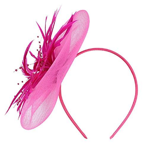 Barlingrock Netting Feather Haar Big Flower Stirnband Hochzeit und Royal Races Damen Party Girls Damen Headwear Mesh Feathers Farbe Horse Hat