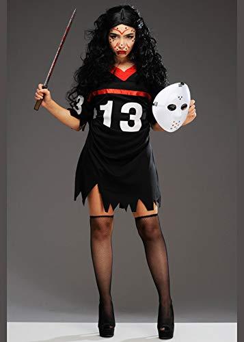 Magic Box Int. Halloween-Jason-Art-Hockey-Kostüm der Frauen Medium (UK 10-12) (Für Kostüm Jason Frauen)