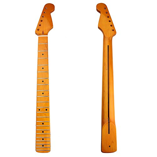 kmise-electric-guitar-neck-22-fret-maple-fretboard-vintage-gloss-finish-for-fender-strat-replacement