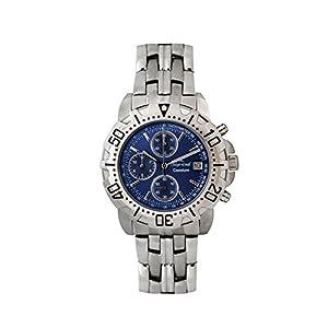 Reloj Cuarzo Oskar Emil para Hombre con Azul Y Plata Acero Inoxidable 1119G