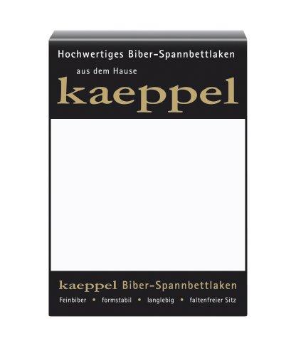 flanell spannbettlaken Kaeppel L-016745-01L1-UAKB Biber Spannbettlaken 100 x 200 cm, Farbe: weiß