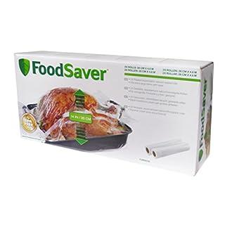 Food Saver FVR003X-01 Pack de 2 Rouleaux Extensibles pour Appareil Mise Sous Vide