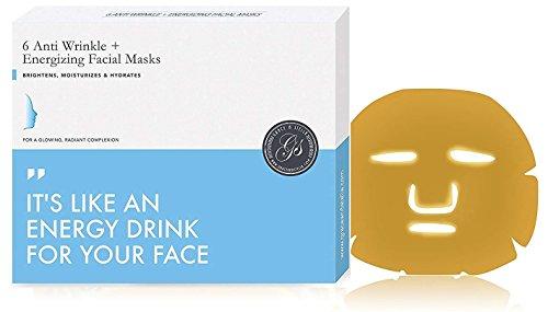 Gesichtsmasken mit Gold-Kollagen (6 Stück) 24k Bio-Kollagen-Pulver, hydratisierende Maske Vegan | Anti Aging Anti-Falten | Feuchtigkeitsspendend | Spa-behandlung Kühlung & Beruhigende Hyaluronsäure