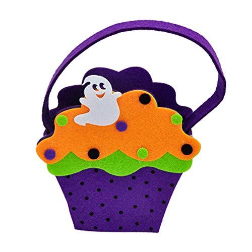 SJZC Halloween Süßigkeiten Taschen Vliesstoff Kinder Candy Bag Kürbis Tasche Für Party,imp