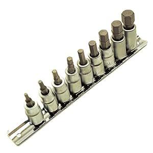 AF Allen / Alan / Allan/ Hex Key Socket / Bit Set 3/8 Drive IMPERIAL TE077 by A B Tools