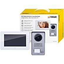 "Vimar K40910 Videocitofono - Kit Video 7"" Monof. Alim. Multispina"