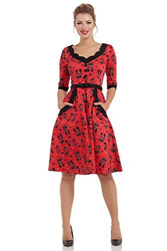 Voodoo Vixen -  Vestito  - Donna rosso XL