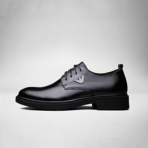 2017 Hombres Zapatos De Cuero Bottom Low-top Botas Zapatos Casuales Trabajo Zapatos Para Caminar Transpirable 37-44 Negro