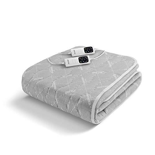 Imetec scaldasonno adapto matrimoniale 150 x 160 cm, riscaldamento rapido, temperatura costante e personalizzata, tessuto trapuntato anallergico, comando con 6 temperature, made in italy