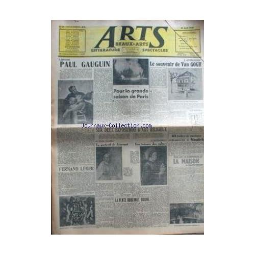 ARTS [No 64] du 19/04/1946 - PAUL GUAGUIN - POUR LA GRANDE SAISON DE PARIS - VAN GOGH - ART RELIGIEUX - JOUVENET - FERNAND LEGER - LA VENTE DUBERNET DOUINE.