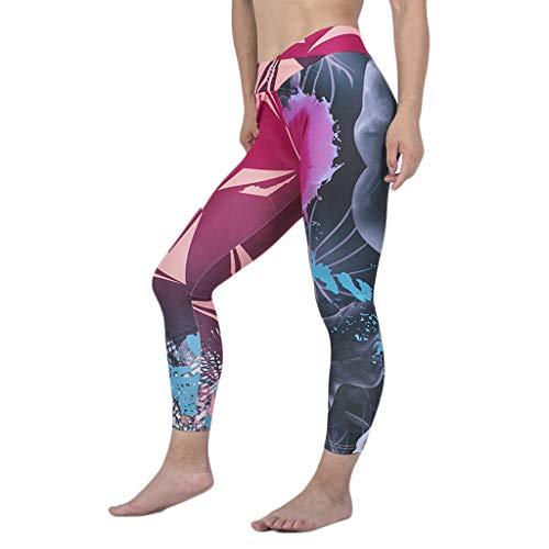 Setsail Damen Mode Hosen Digitaldruck Nähen Fitness Laufen Yoga Neun-Minuten-Hosen Bequeme Hose