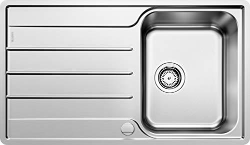 Blanco 523031 LEMIS 45 S-IF Küchenspüle, Edelstahl Bürstfinish, 45 cm Unterschrank