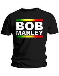 Bob Marley Official T Shirt Logo Rasta Band Block Classic All Sizes
