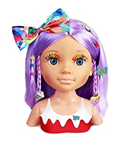 Nancy - Un Día de Secretos de Belleza Violeta, Busto de Peluquería y Maquillaje para Niños y Niñas a Partir de 3 Años, Multicolor (Famosa 700015133)