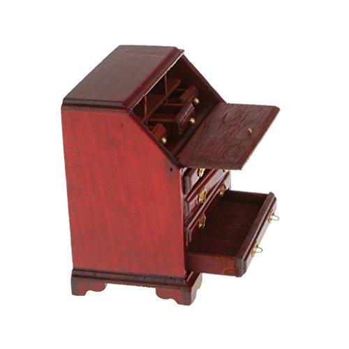 Generic 1/12 Casa Delle Bambole Mini Cassetto in Legno per Camera Letto Salotto, Mini Bambole Mobili