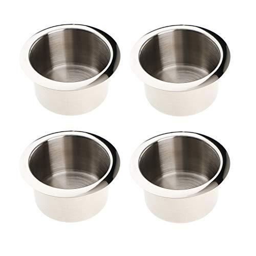 perfk 4 Stück Cup Getränk Dosenhalter Aschenbecher Aus rostfreiem Stahl
