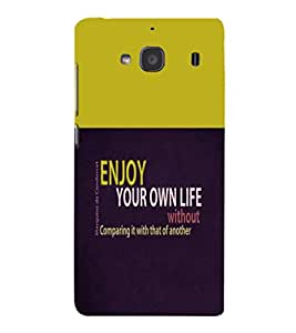 printtech Cool Quotes Back Case Cover for Xiaomi Redmi 2S::Xiaomi Redmi 2::Xiaomi Redmi 2 Prime