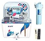 Konvio Neer Swift 15 Liter Alkaline Mineral RO+UV+UF+Tds Adjuster Wall Mounted RO Water Purifier - White