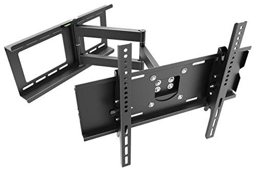 RICOO Wandhalterung TV Schwenkbar Neigbar R13 Universal LCD Wandhalter Ausziehbar Fernseher Halterung Fernsehhalterung 81cm/32-165cm/65 Zoll/VESA 200x200 400x400/Schwarz