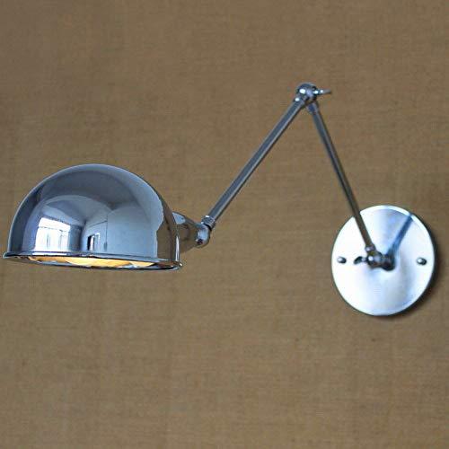 6 Farben-Schwenkarm-Wandlampen-Lampen mit langem Arm-Messingwand-Lampen-Licht-Beleuchtung, Chrom (Natürliches Eitelkeit Licht)