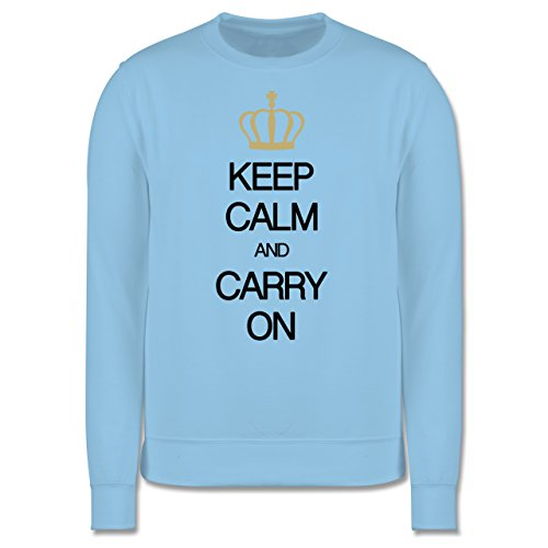 Keep calm - Keep calm and carry on - Herren Premium Pullover Hellblau