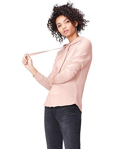 FIND Hoodie Damen mit ausgerolltem Saum und Rippenbündchen Rosa (Blush), 38 (Herstellergröße: Medium)