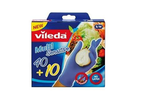 Vileda Multi Sensitive Lot de 40+10 gants Taille S/M
