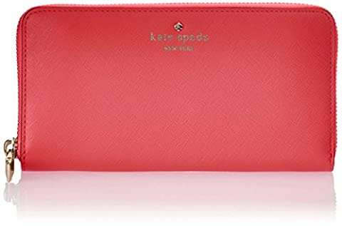 Kate Spade New York Womens Cherry Lane Lacey Wallet SURPISE CORAL