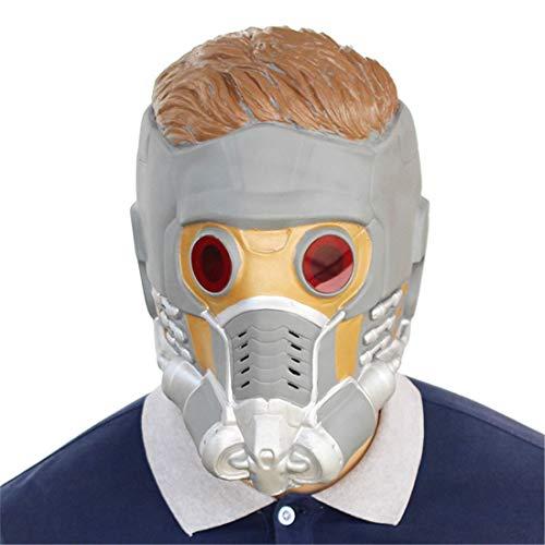 Galaxy Guard 2 Star Helm Maske Halloween Dekoration Kostüm Maske Cosplay Volle Kopfmaske Latex Fire ()