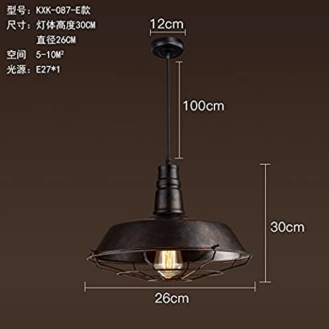 LFH.JY Sala da pranzo moderna lampada minimalista sala da pranzo con bar e personalità creative (Metallo Acciaio Testata)