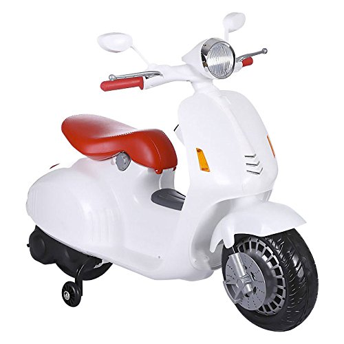 kid go Scooter eléctrico 12V Mini Scooter Moto para Niños Blanca