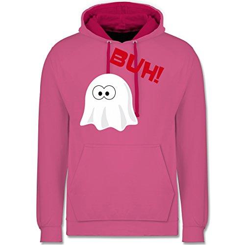 Halloween - Kleiner Geist Buh süß - Kontrast Hoodie Rosa/Fuchsia