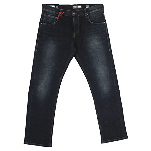 Mustang Chicago Tapered, Herren Jeans Hose, Stretchdenim, blackblue, W 33 L 30 [19269]