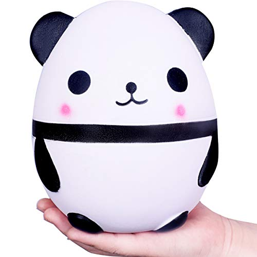 Weyingle Squishy Jumbo Slow Rising Squishies Panda Car Star Kawaii Cream Scented Toys For Kids And Adults, Lovely Stress Relief Toy. Big Size (6 Panda)