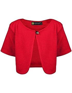 lotmart ragazze corto bolero bambini manica corta TESTURIZZATO materiale Cardigan & regalo omaggio lotmart Penna...