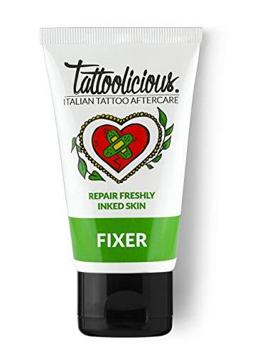 Tattoolicious fixer - crema lenitiva dopo - tattoo, specifica per la cura del tatuaggio, con principi attivi bio dalle proprietà cicatrizzanti - 75 ml