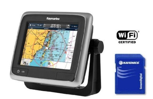 Raymarine E70162-EU A-Serie A65 WiFi-Touch Multifunktionsdisplay mit EU-Karte 14,5 cm (5,7 Zoll)