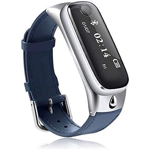 Smart watch / Orologio Intelligente Clode® M6 Braccialetto di Vigilanza Intelligente Sport Smartband w / Auricolare Bluetooth per IOS Android (Colour : Navy)