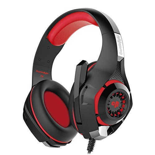 3. Cosmic Byte GS410 Headphones with Mic (Black/Red)