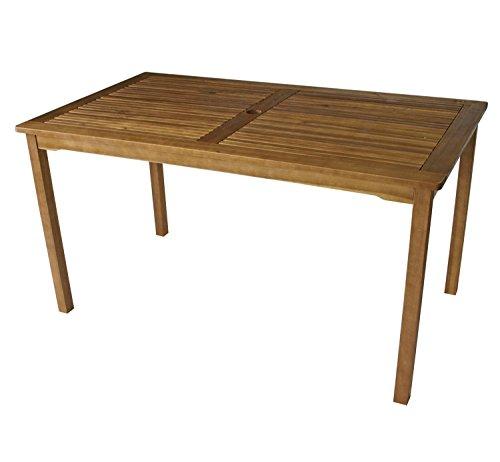 1 Tisch 144 x 82 Gartenmöbel Holztisch Akazie Holz Gartentisch Balkon Esstisch FSC geölt 98322