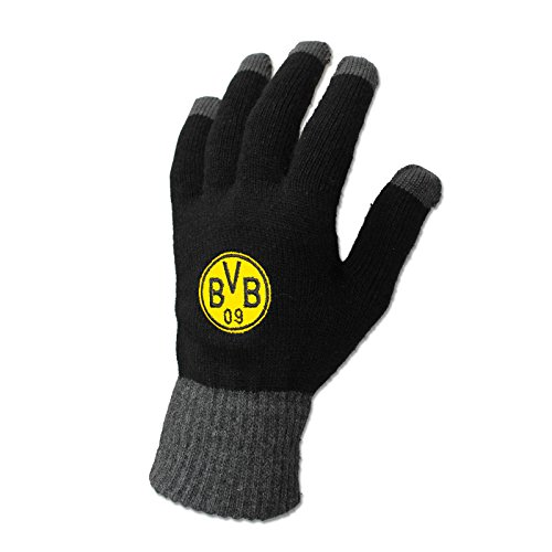 Borussia Dortmund Smartphone Handschuhe, Schwarz, Synthetisch, BVB-Emblem S